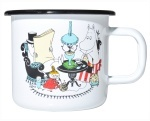 Muurla enamel mug 3,7dl Colors Moominmamma & Moominpappa