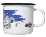 Muurla enamel mug 3,7dl Retro Island