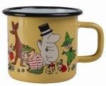 Muurla enamel mug 3,7dl Moomin 70 years
