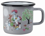 Muurla enamel mug 3,7dl Garden grey