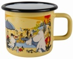 Muurla enamel mug 3,7dl Moomins on the Riviera Swimming Pool
