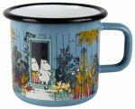 Muurla enamel mug 3,7dl Moomins on the Riviera The Moominhouse