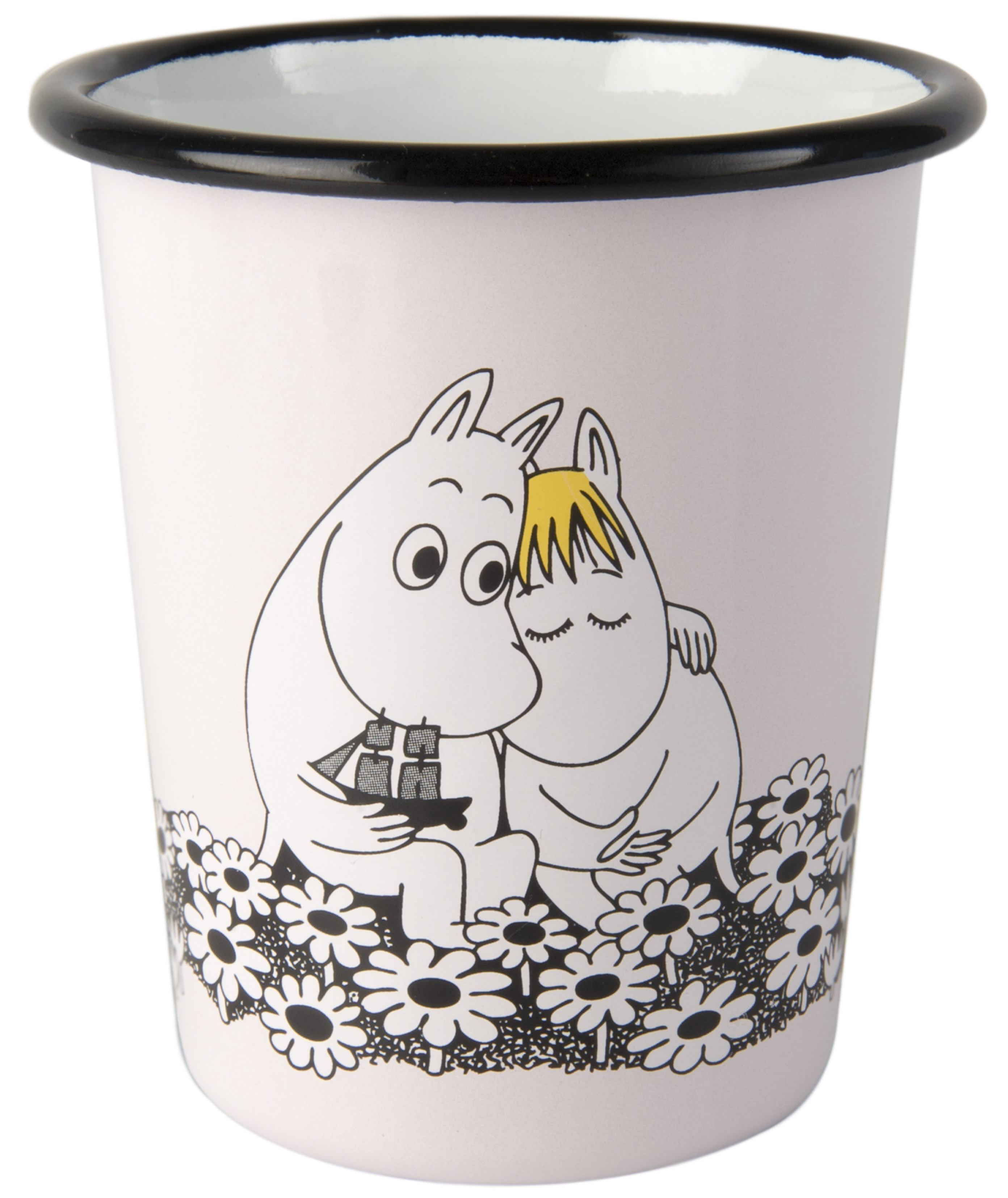 Muurla enamel tumbler 4dl Retro Together forever