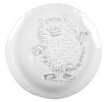 Muurla glass plate 19cm Stinky