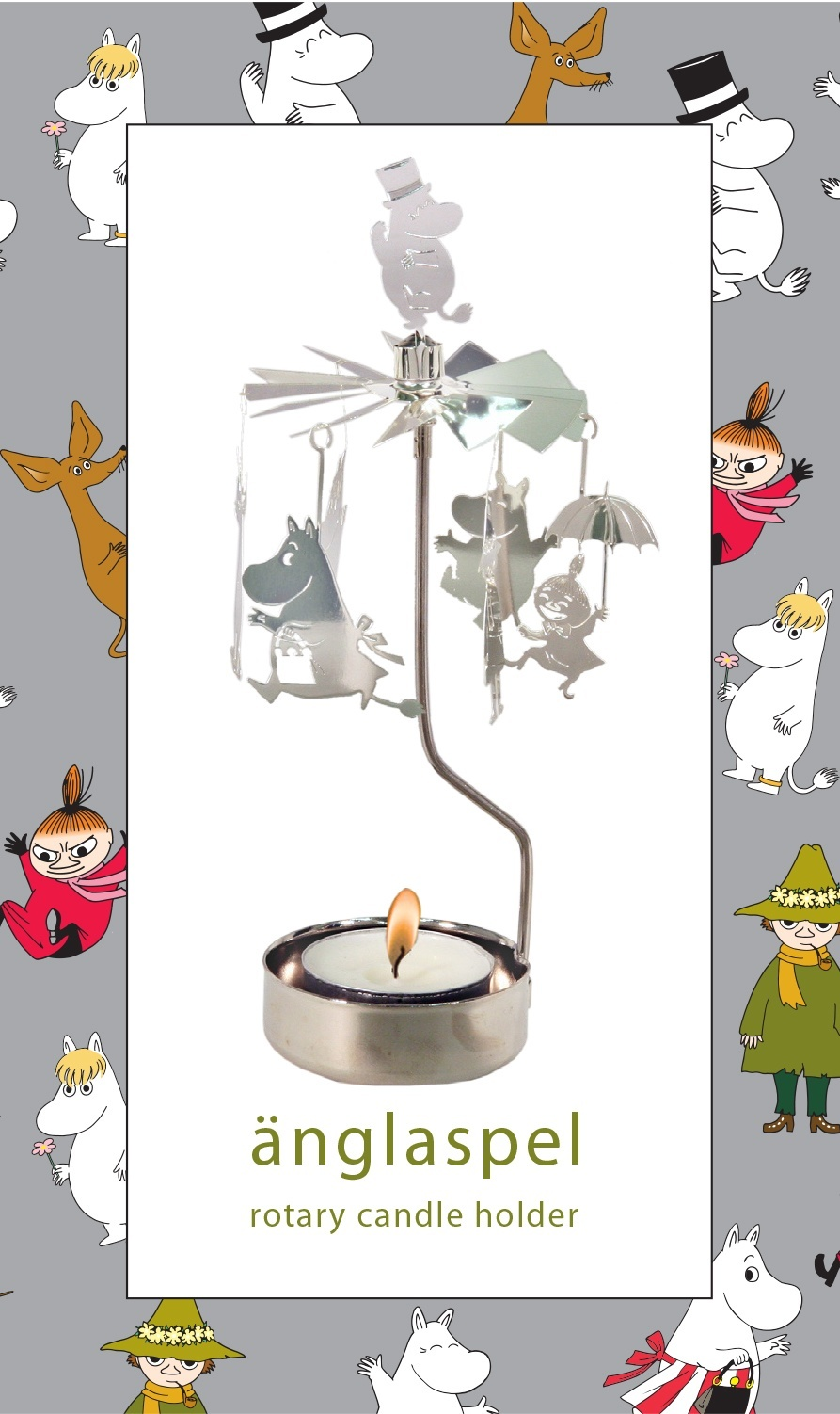 Pluto Rotary Candle Holder Moomin Family