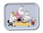 OPTO Tray 27x20 Moomin Teaparty Blue