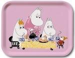 OPTO Tray 27x20 Moomin Teaparty Pink