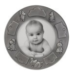 Nordahl Round photo frame - Pewter Finished
