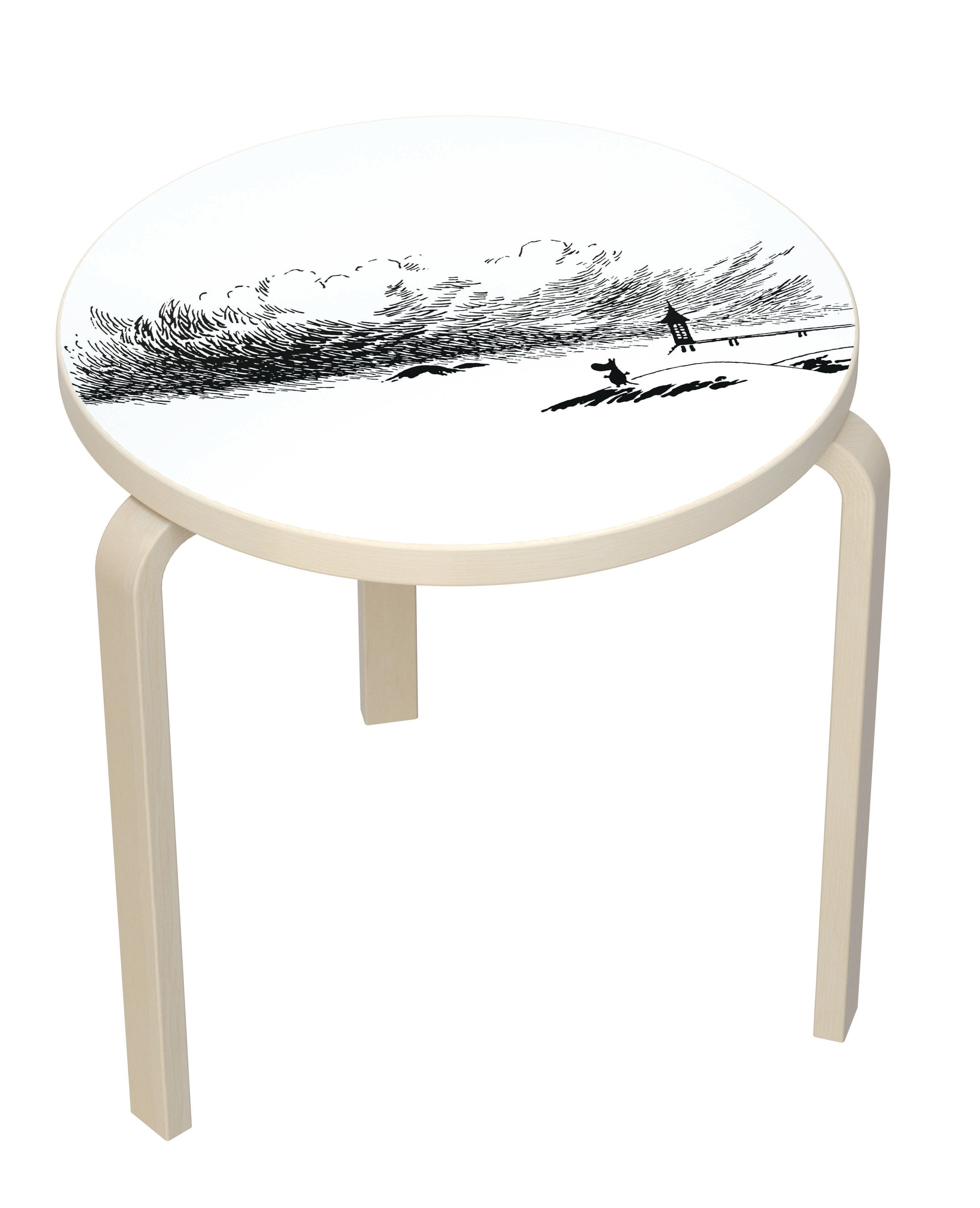 Artek table 90 B Moomin