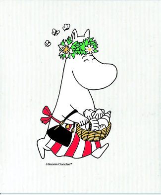 OPTO Dish cloth Moominmother midsummer