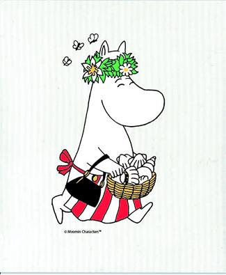 OPTO Dish cloth Moominmother midsummer