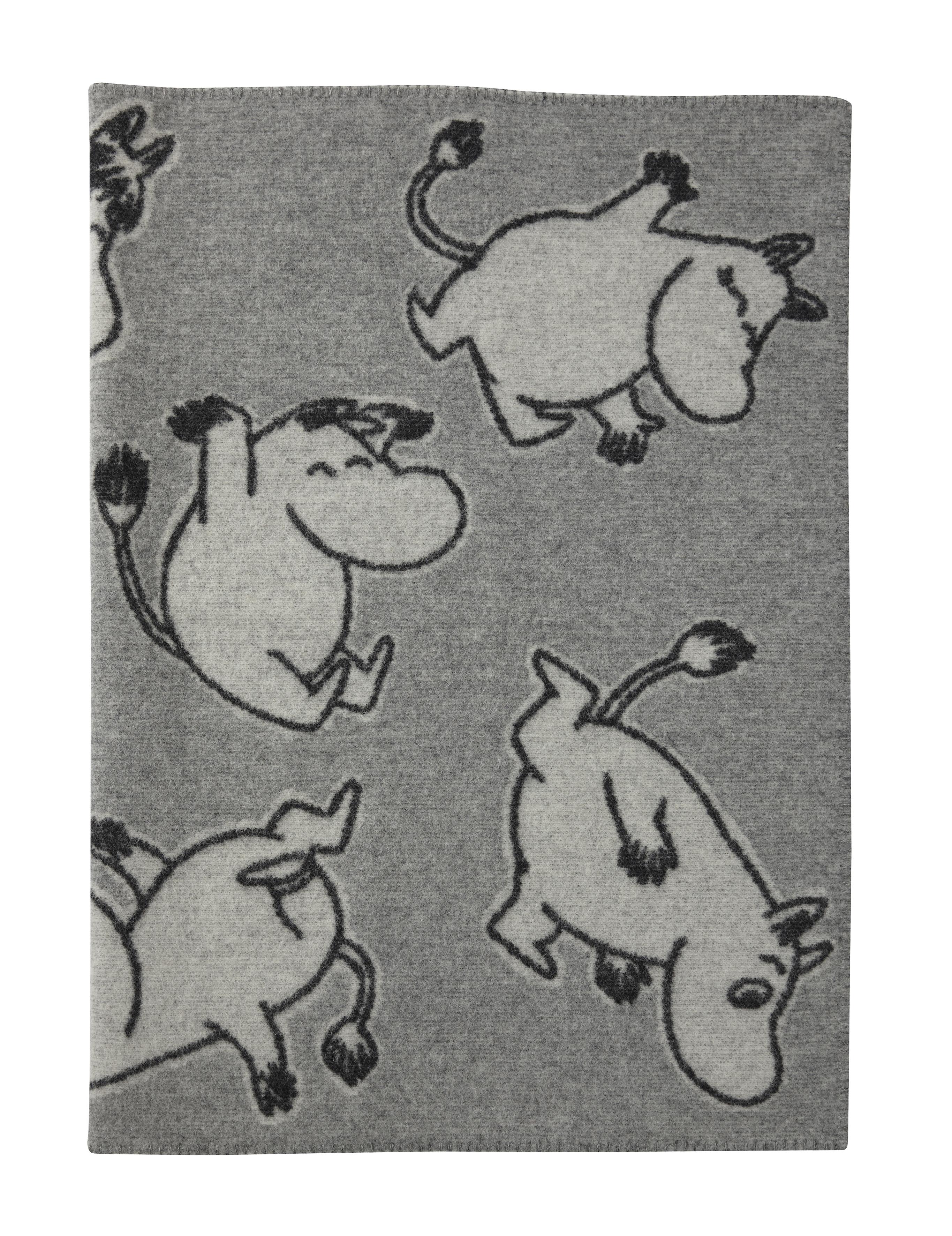 Klippan Yllefabrik Happy Moomin Wool blanket 90x130 cm
