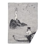 Klippan Yllefabrik Moomin at Sea wool blanket