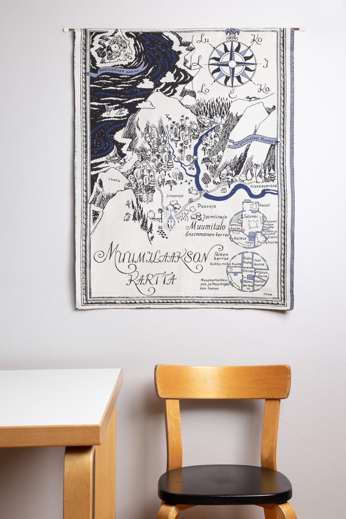 Aurora Decorari Wall Tapestry 68x94cm 261WTM Muumilaakson kartta
