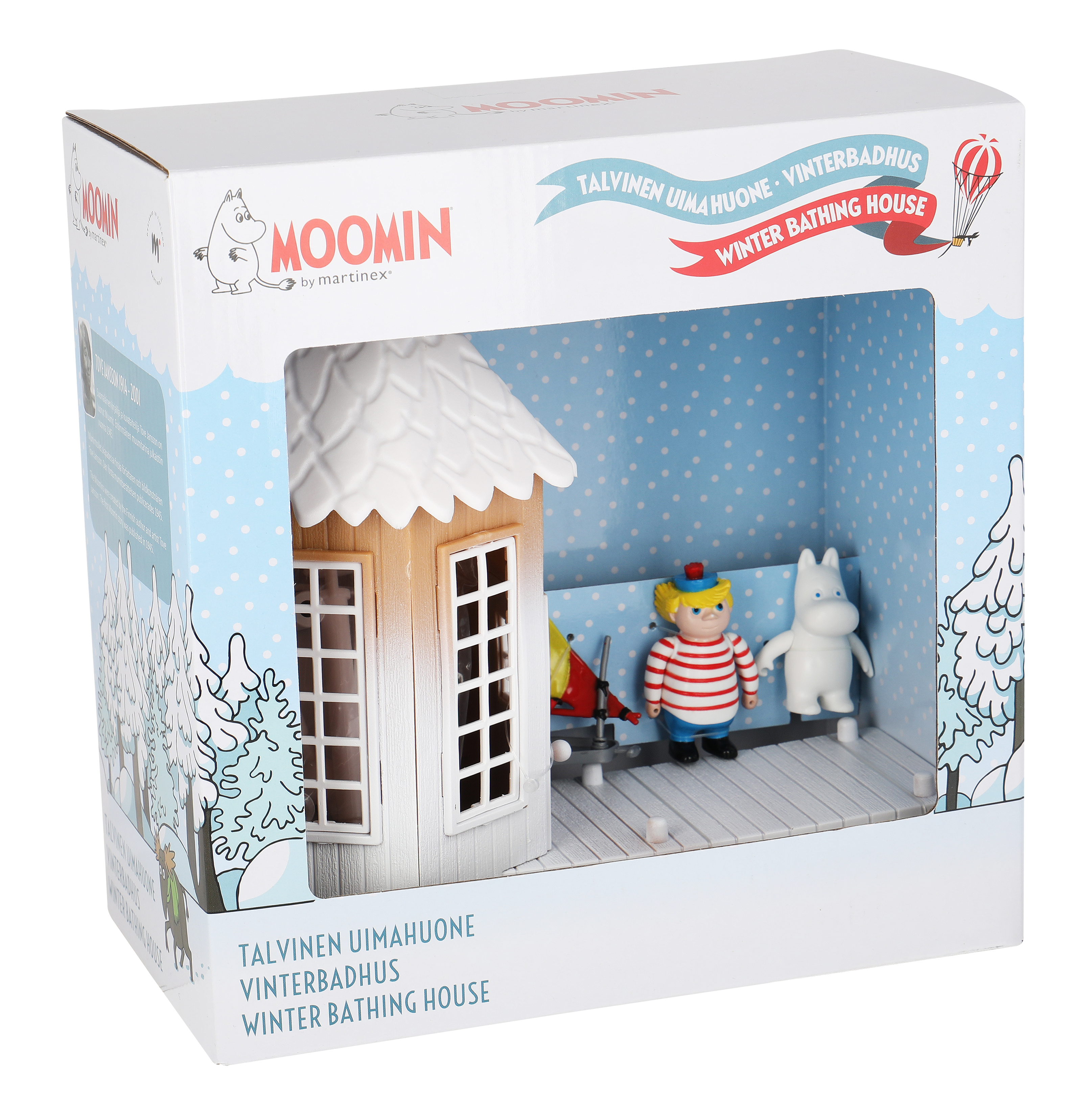 Martinex Moomin Frosty Bath House And 3 Figures