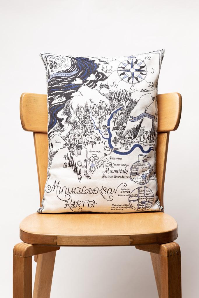 Aurora Decorari 370CH Map of Moominland Cushion Cover