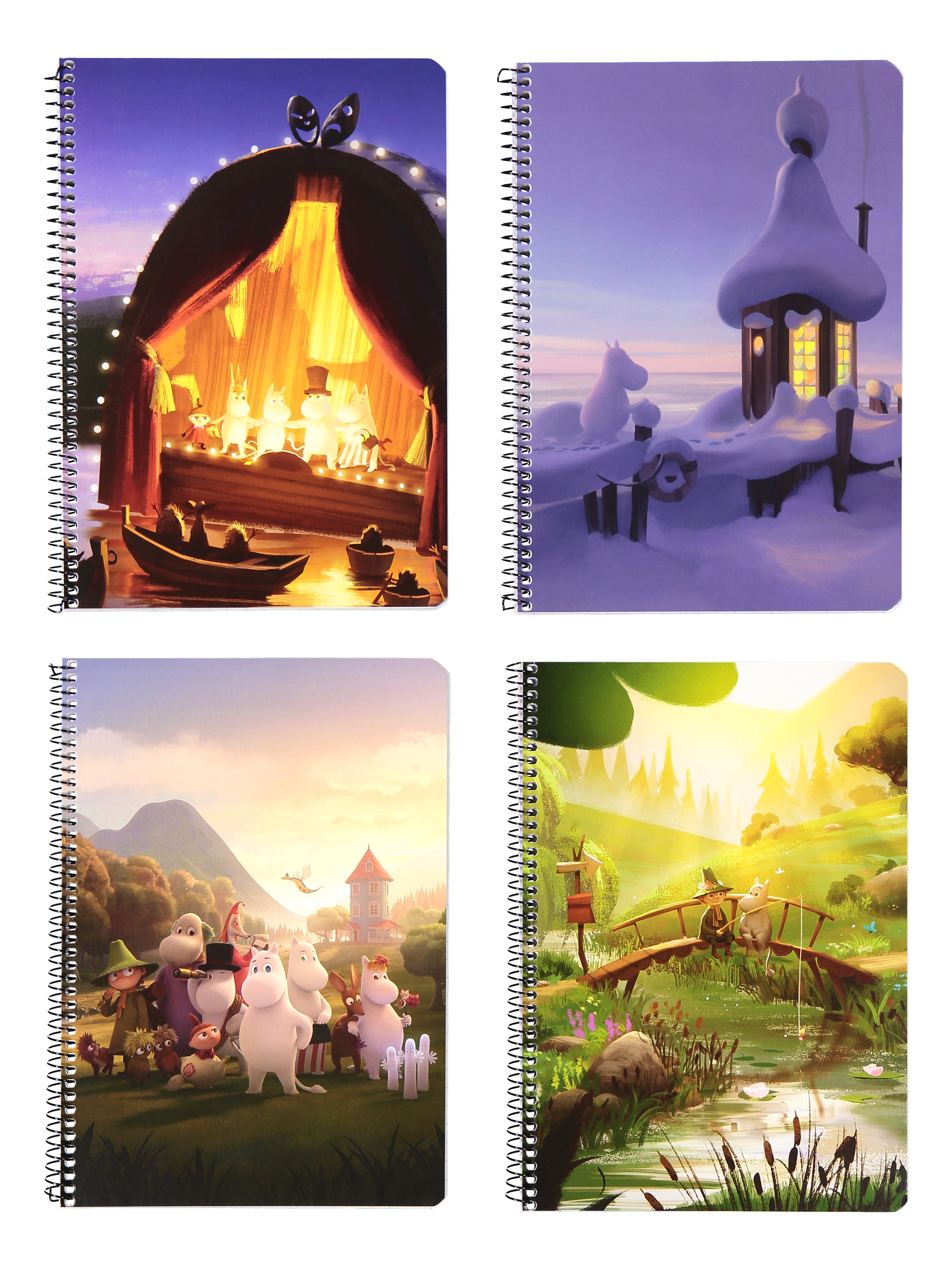 Anglo-Nordic Moominvalley wire notebook a5/80 assorted
