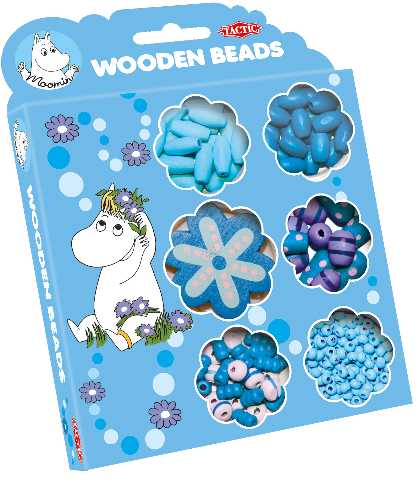 Tactic Moomin wooden beads blue