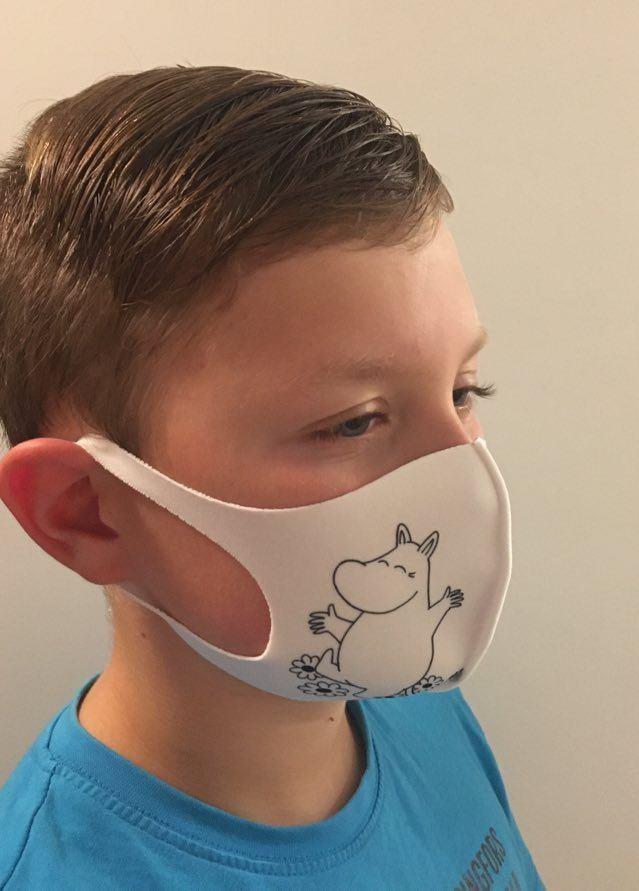 Aurora Decorari 412FM Moomintroll Face Mask S Microfiber