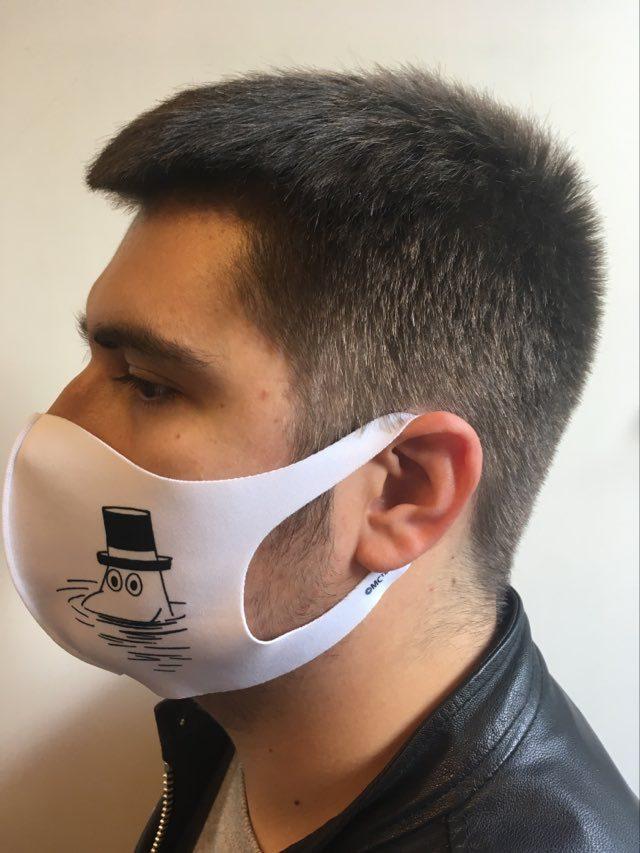 Aurora Decorari 414FM Moominpappa L Face Mask Microfiber