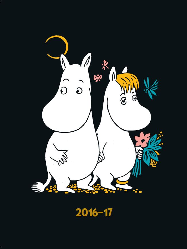 Anglo-Nordic Moomin School calender A5 16-17 18-m W/O