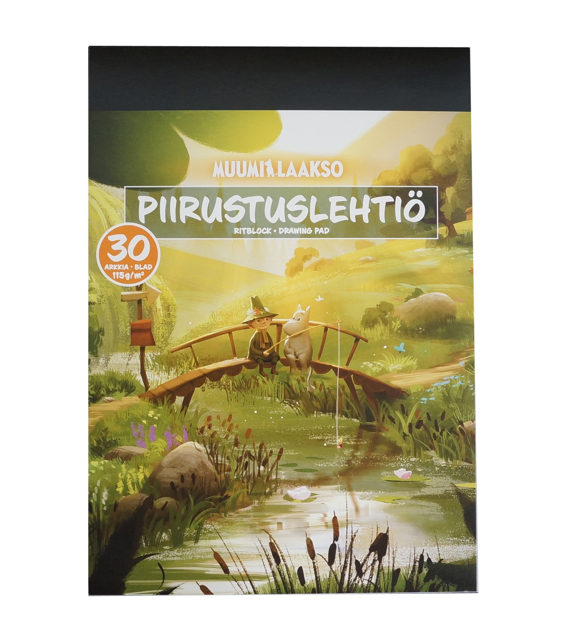 Anglo-Nordic Moominvalley drawing pad A4 115gram 30 sheets