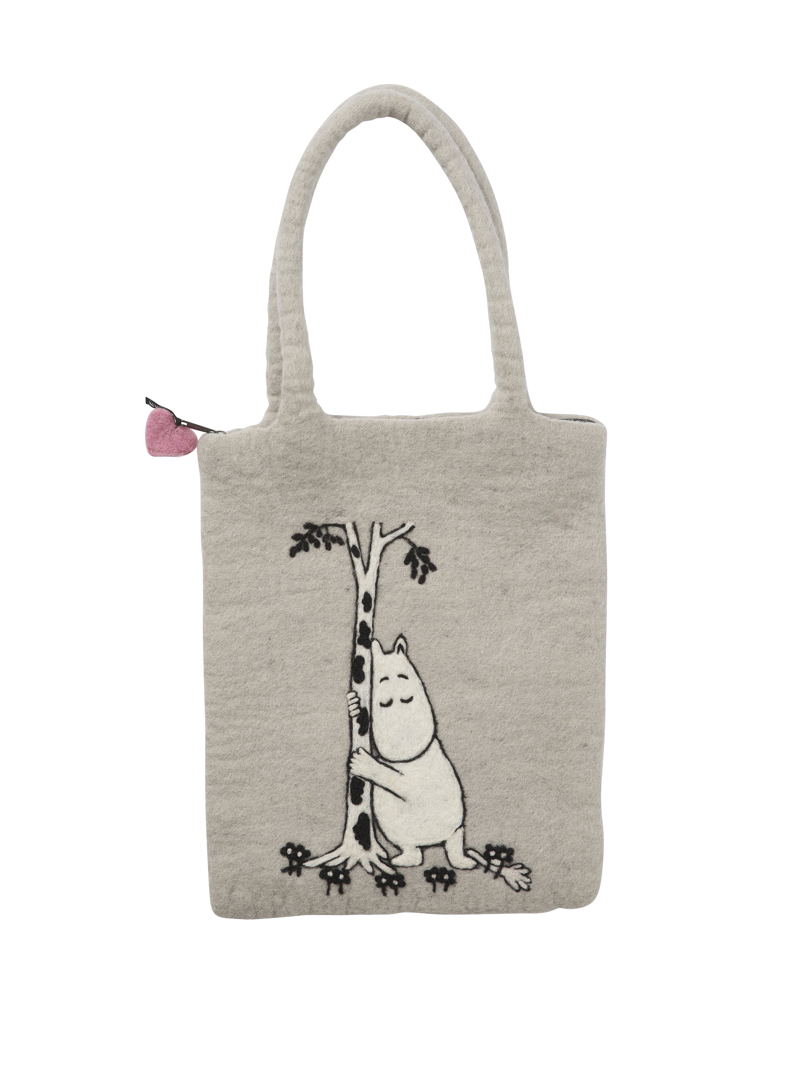 Klippan Yllefabrik Moomin Tree Hug hand felted bag