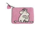 Klippan Yllefabrik Moomin Pink Love hand felted purse
