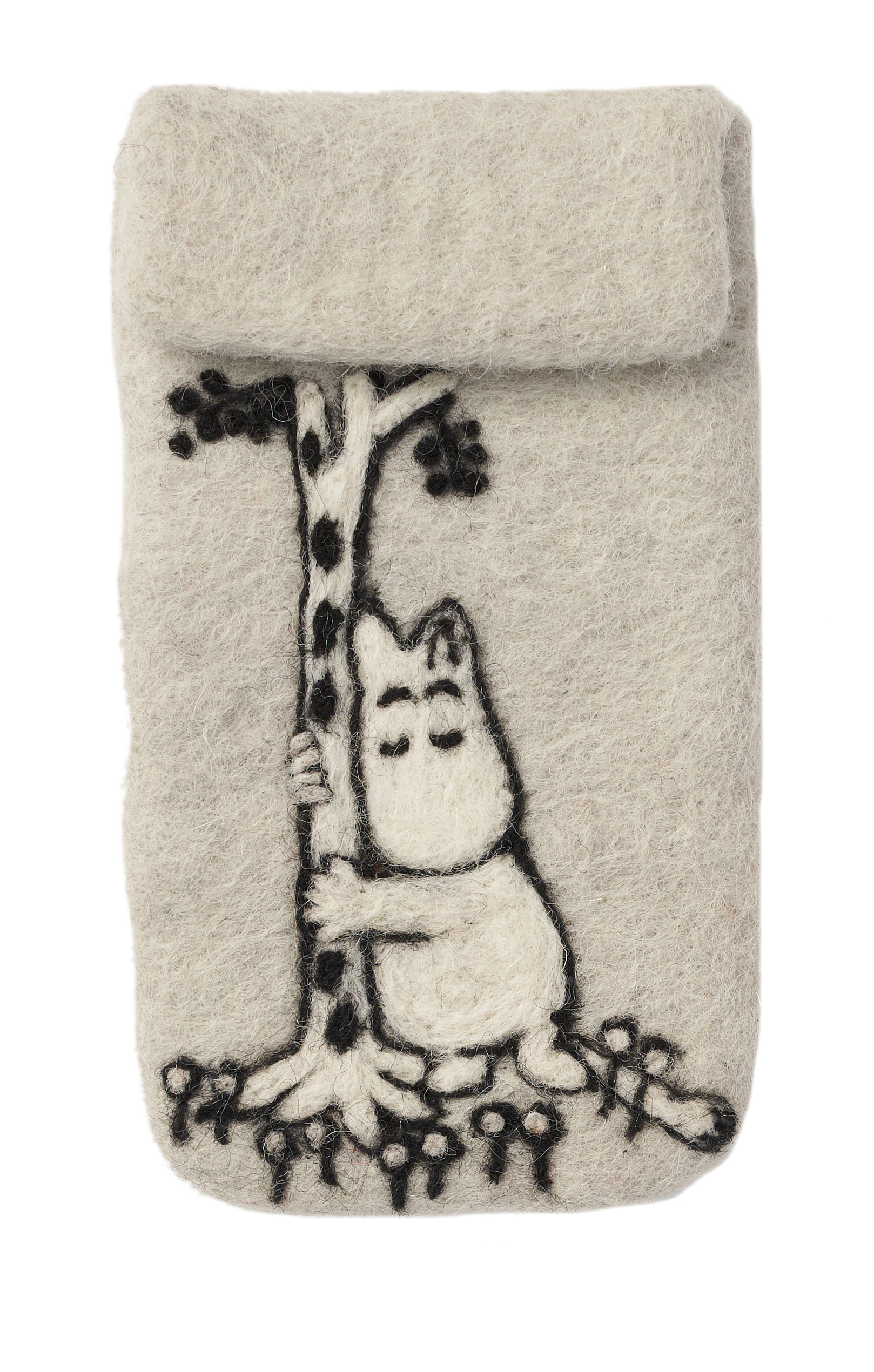 Klippan Yllefabrik Moomin Tree Hug hand felted iPhone cover