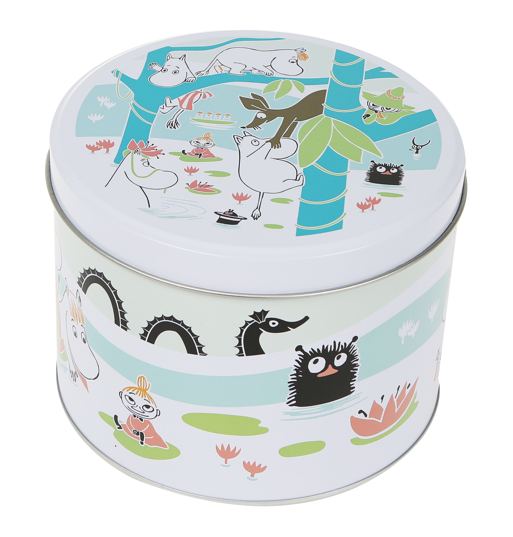 Martinex Moomins at the pond round tin