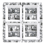 Martinex Moomin comic 4 grid plate
