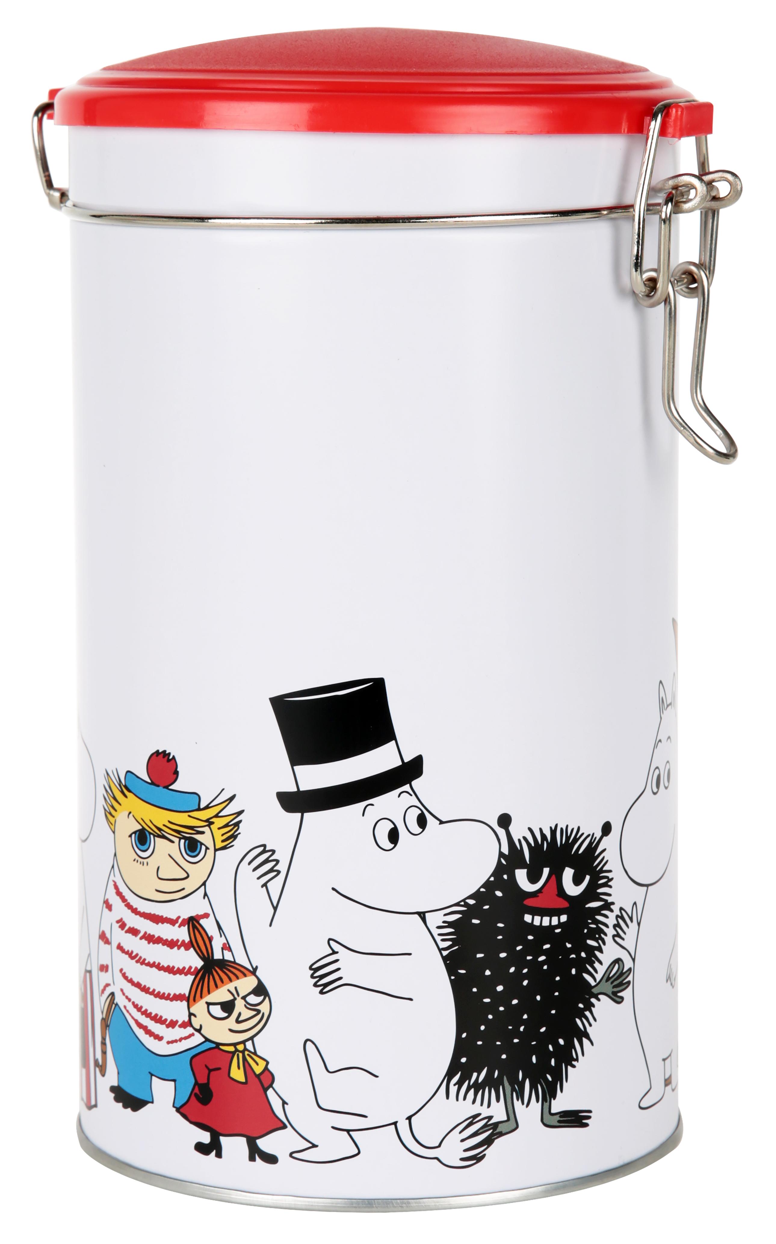 Martinex Moomin Characters Round Coffee Tin