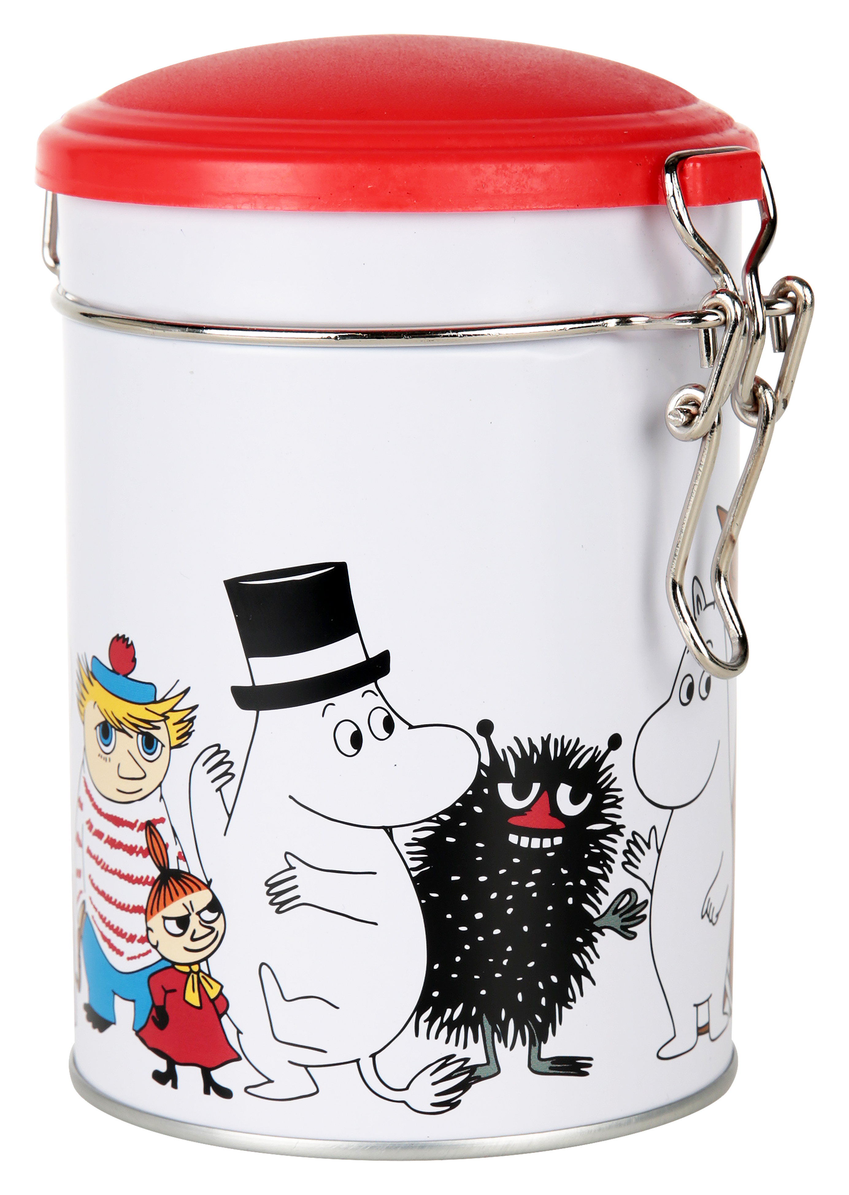 Martinex Moomin Characters Round Tea Tin