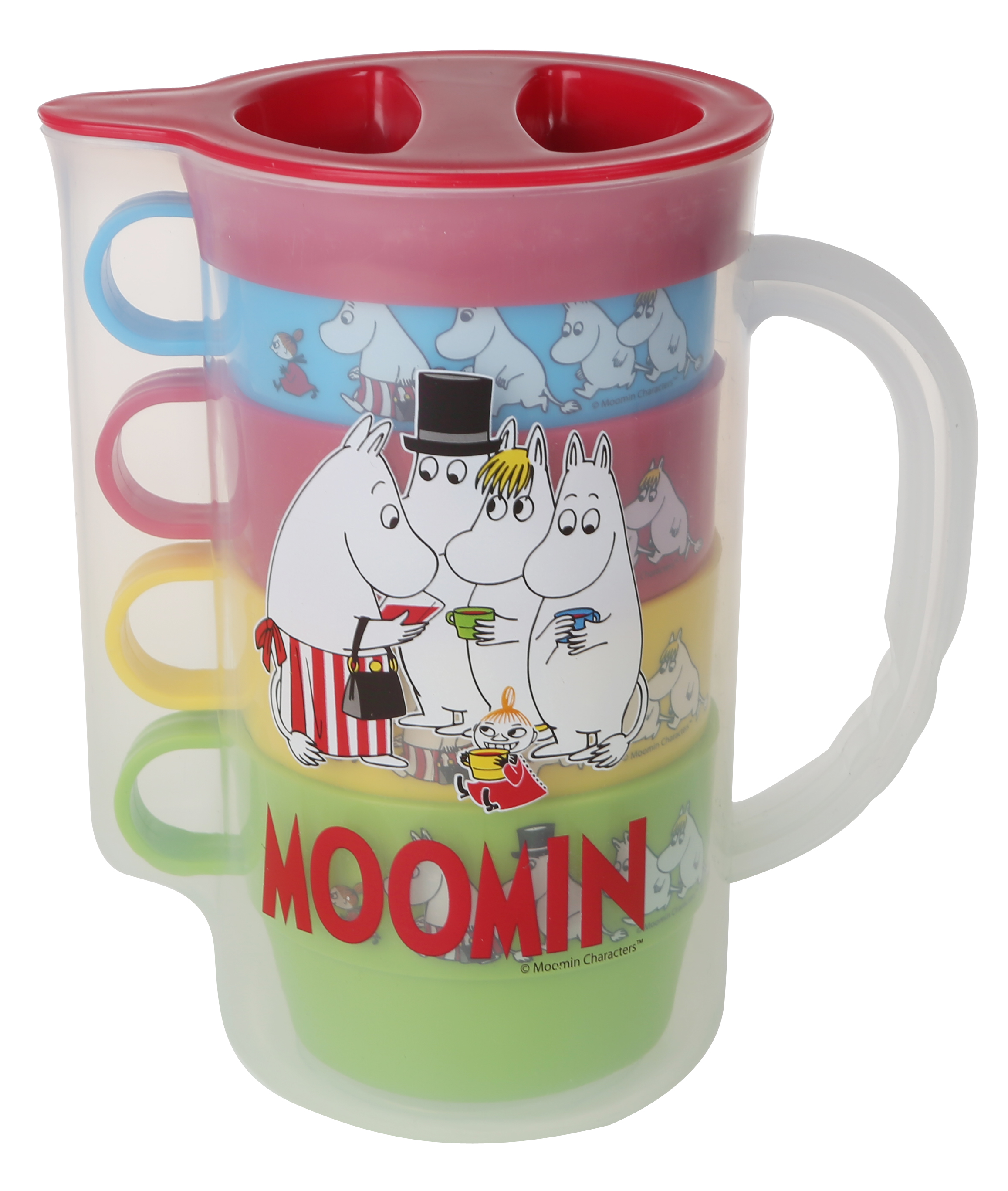 Martinex Moomin Picknick jug and 4 cups
