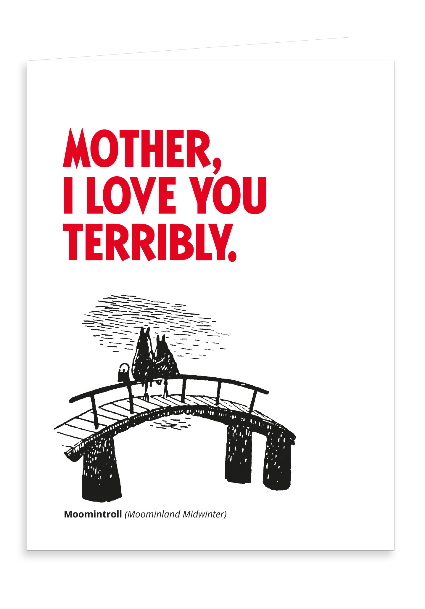 Putinki Letterpress Greeting Card Mother