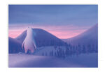 Greeting card Moomintroll and the Mountain View