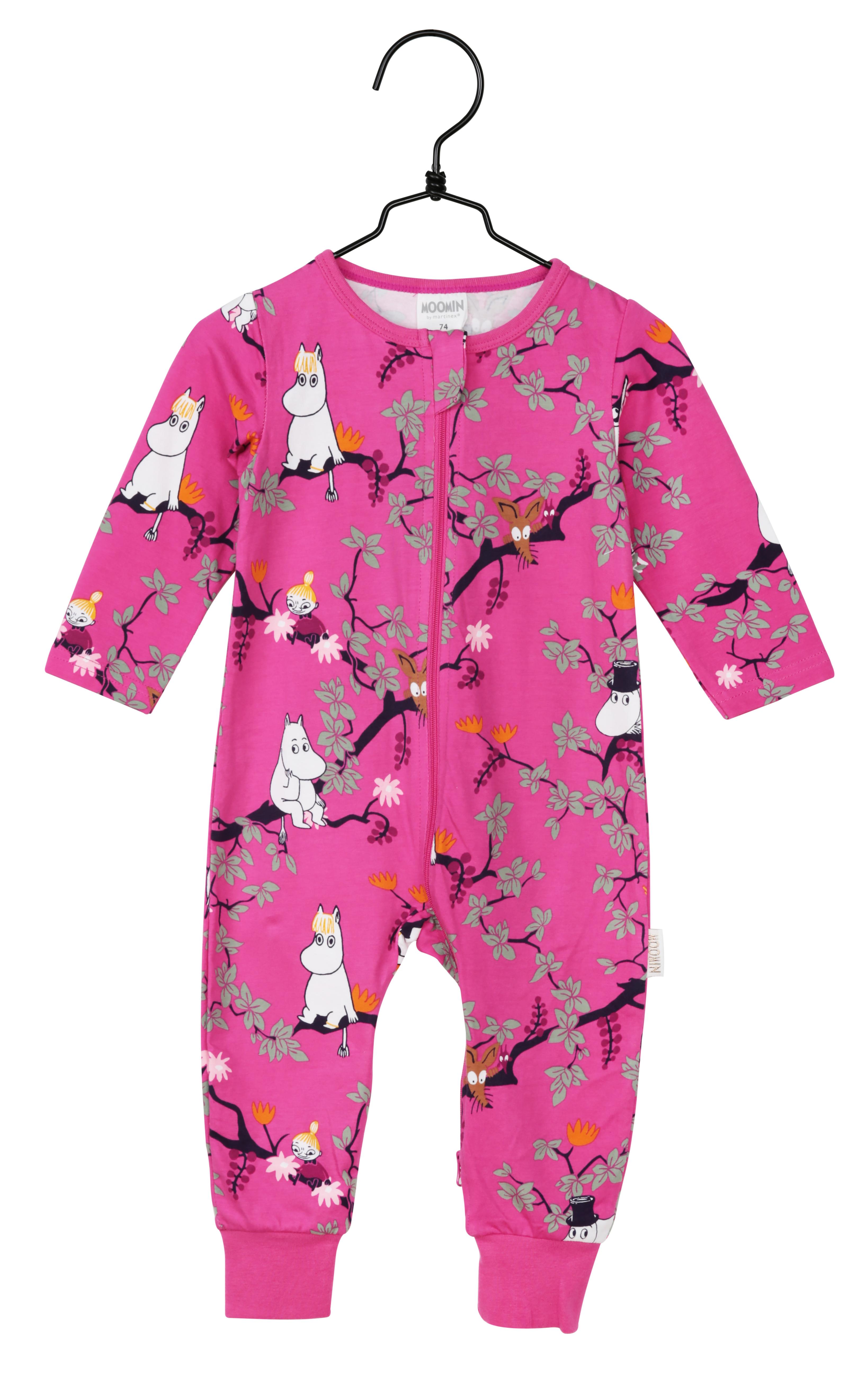 Martinex Moomin Climbing Tree Pyjamas Magenta