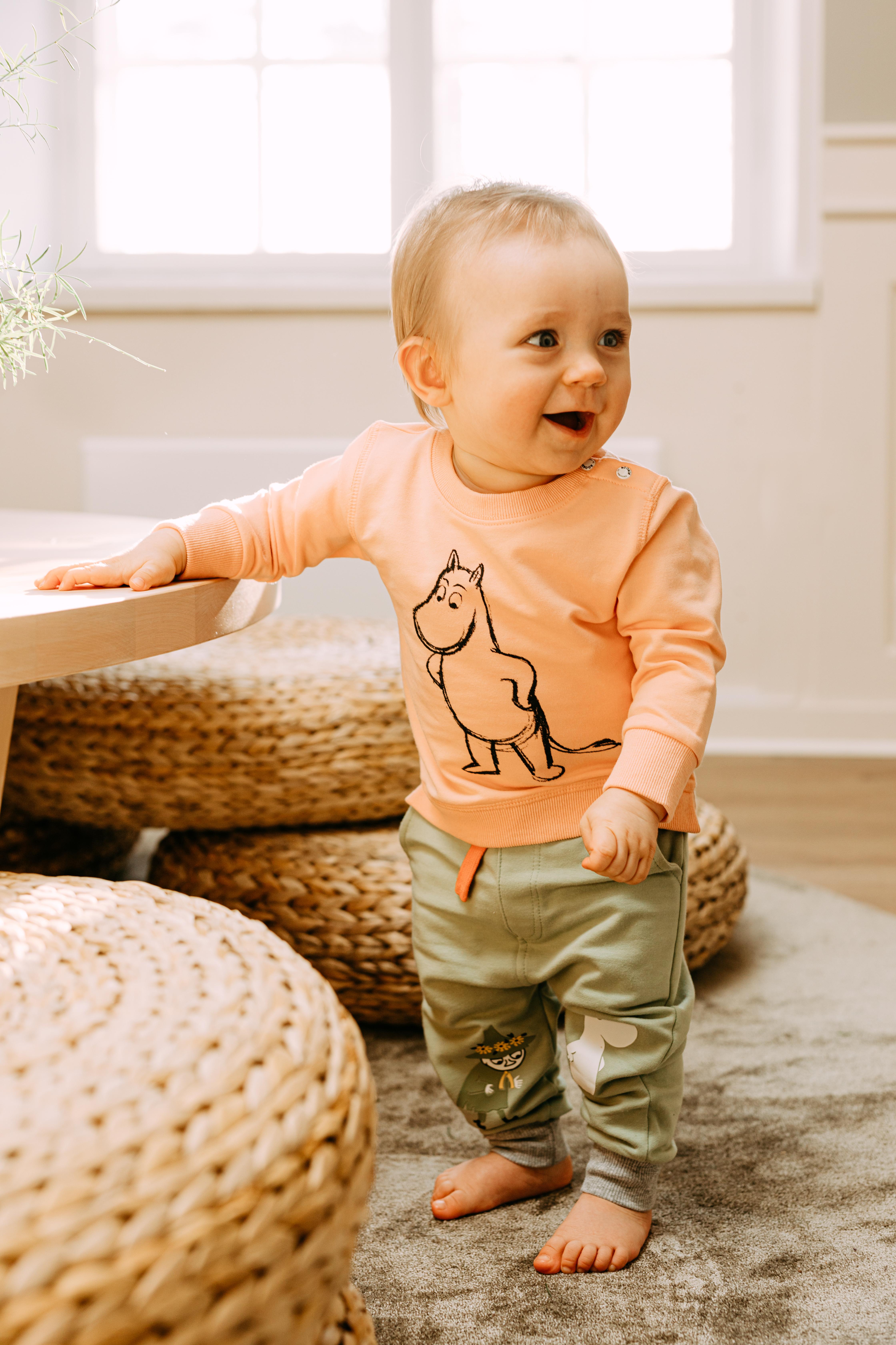 Martinex Moomin Sketch Sweatshirt Baby Coral