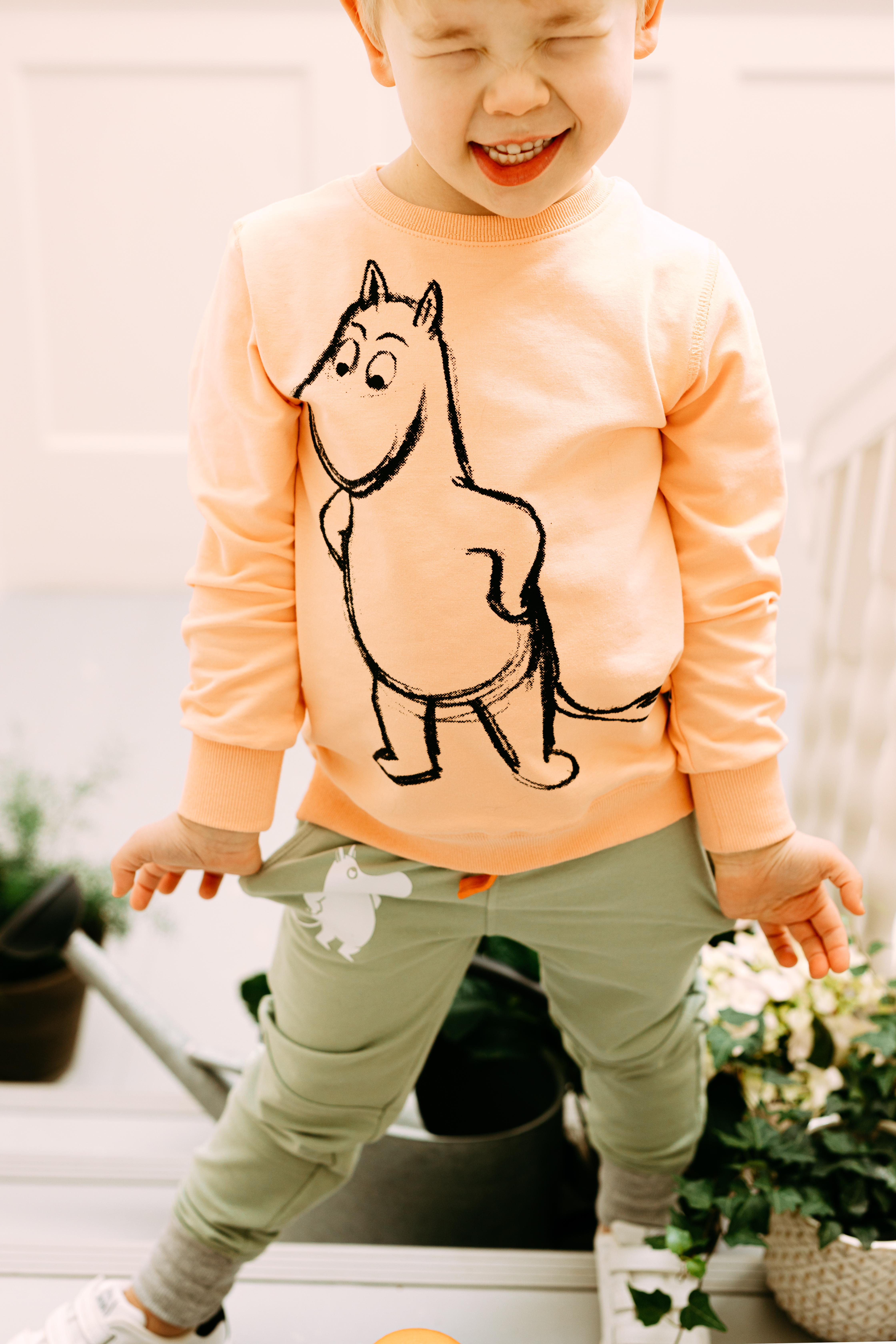 Martinex Moomin Sketch Sweatshirt Coral