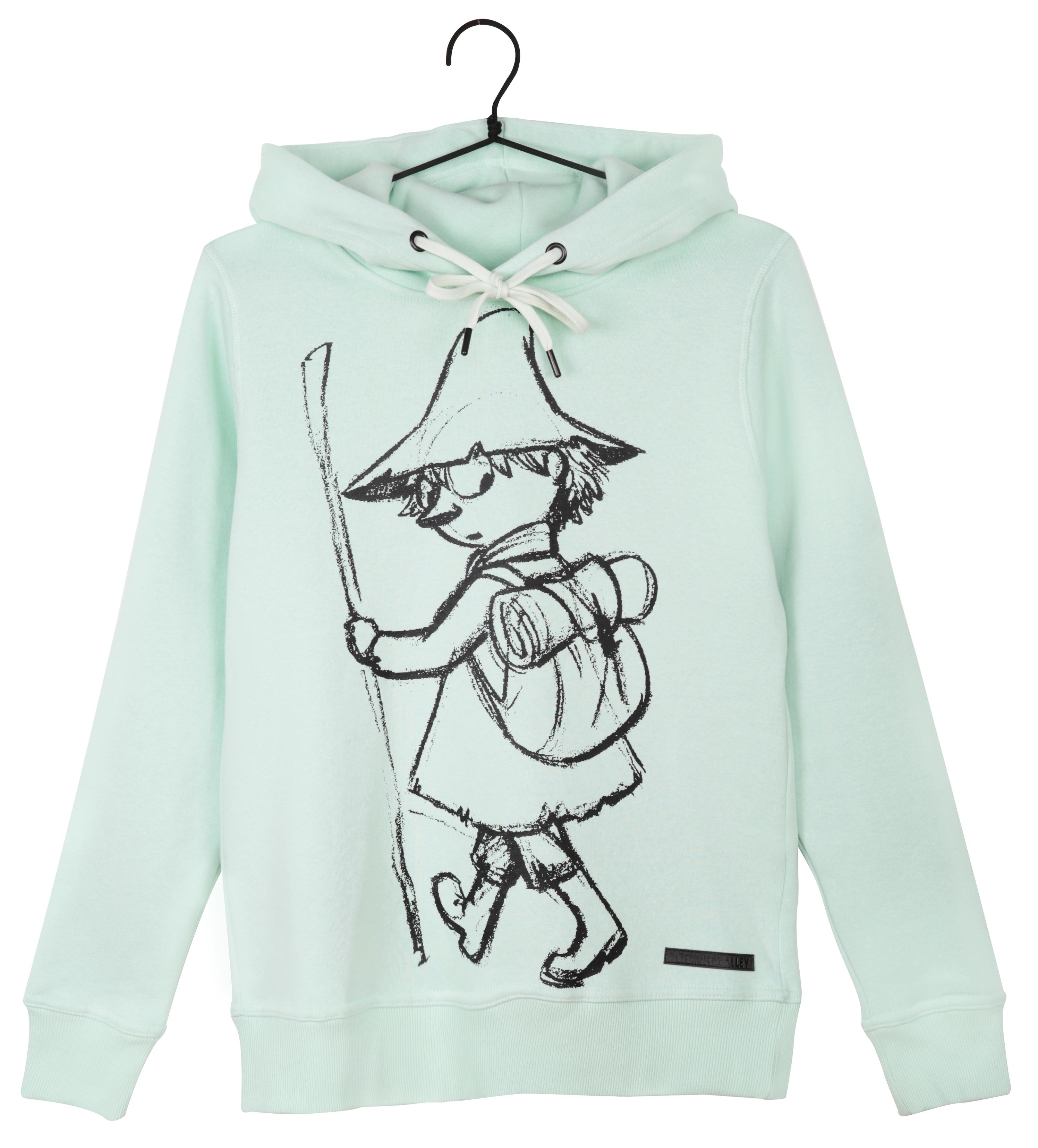 Martinex Moomin Lilli Hoodie Sketch Snufkin Mint Green