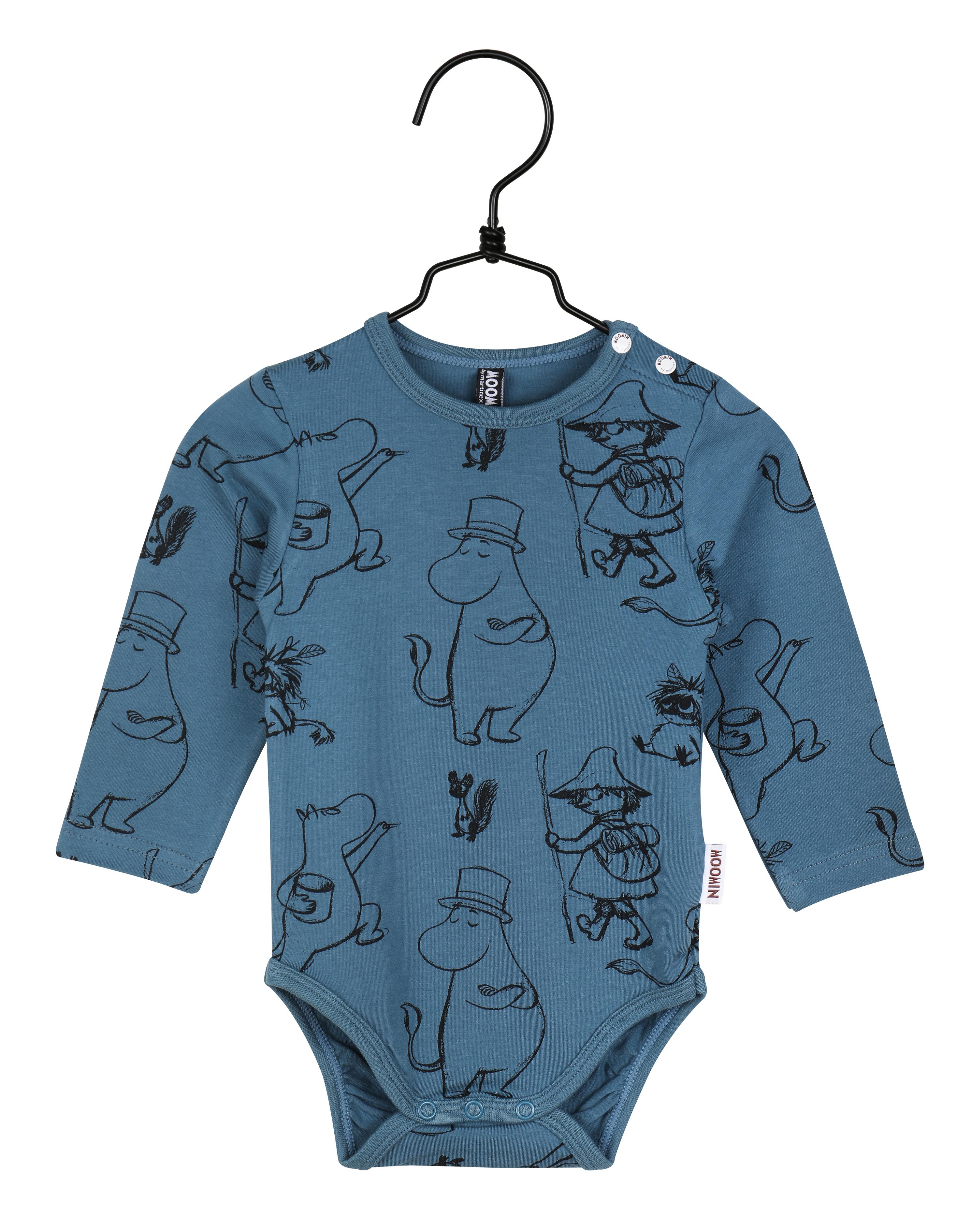 Martinex Moomin Pen Stroke Bodysuit Blue