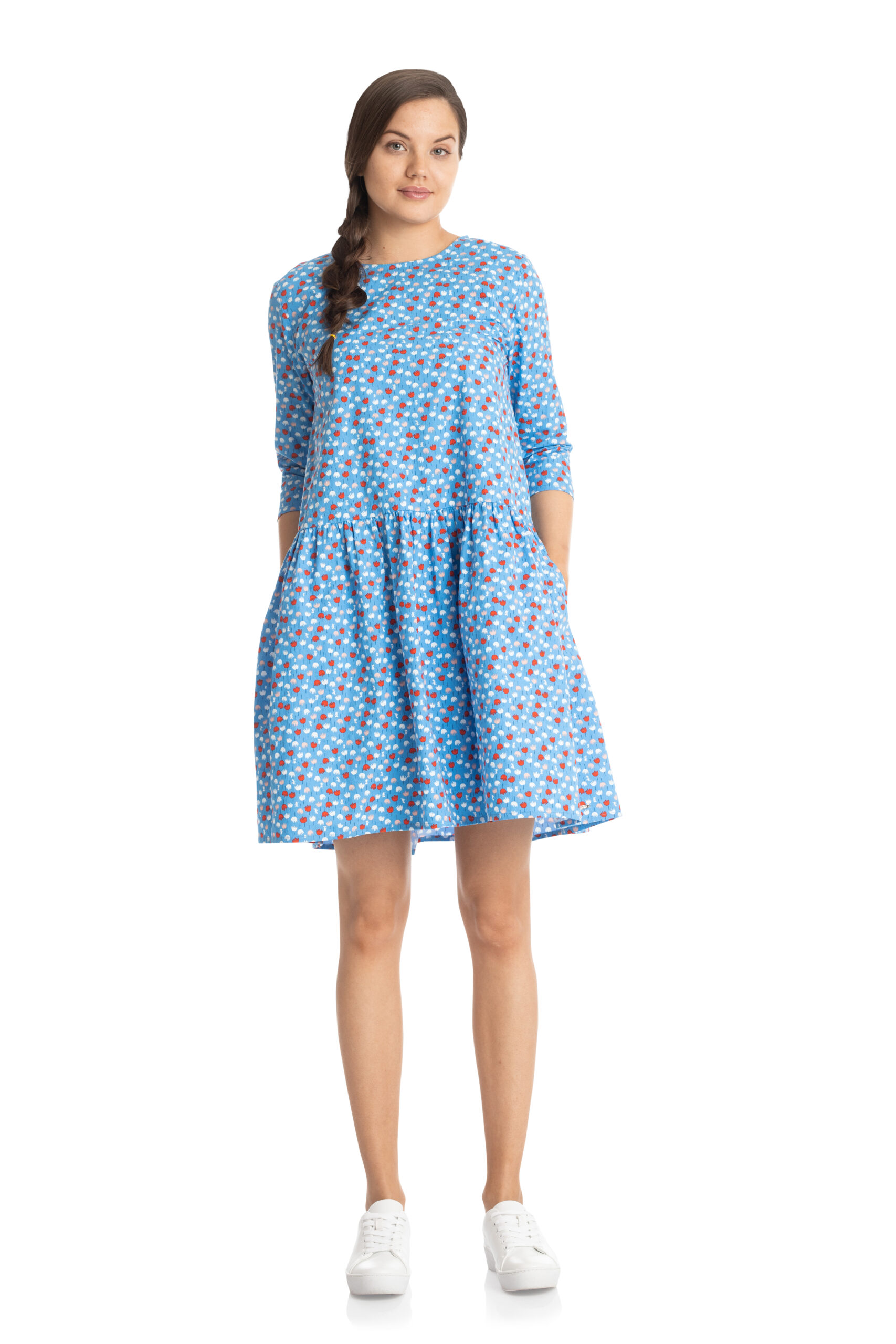 Martinex Moomin Elina Dress Miniflower Blue