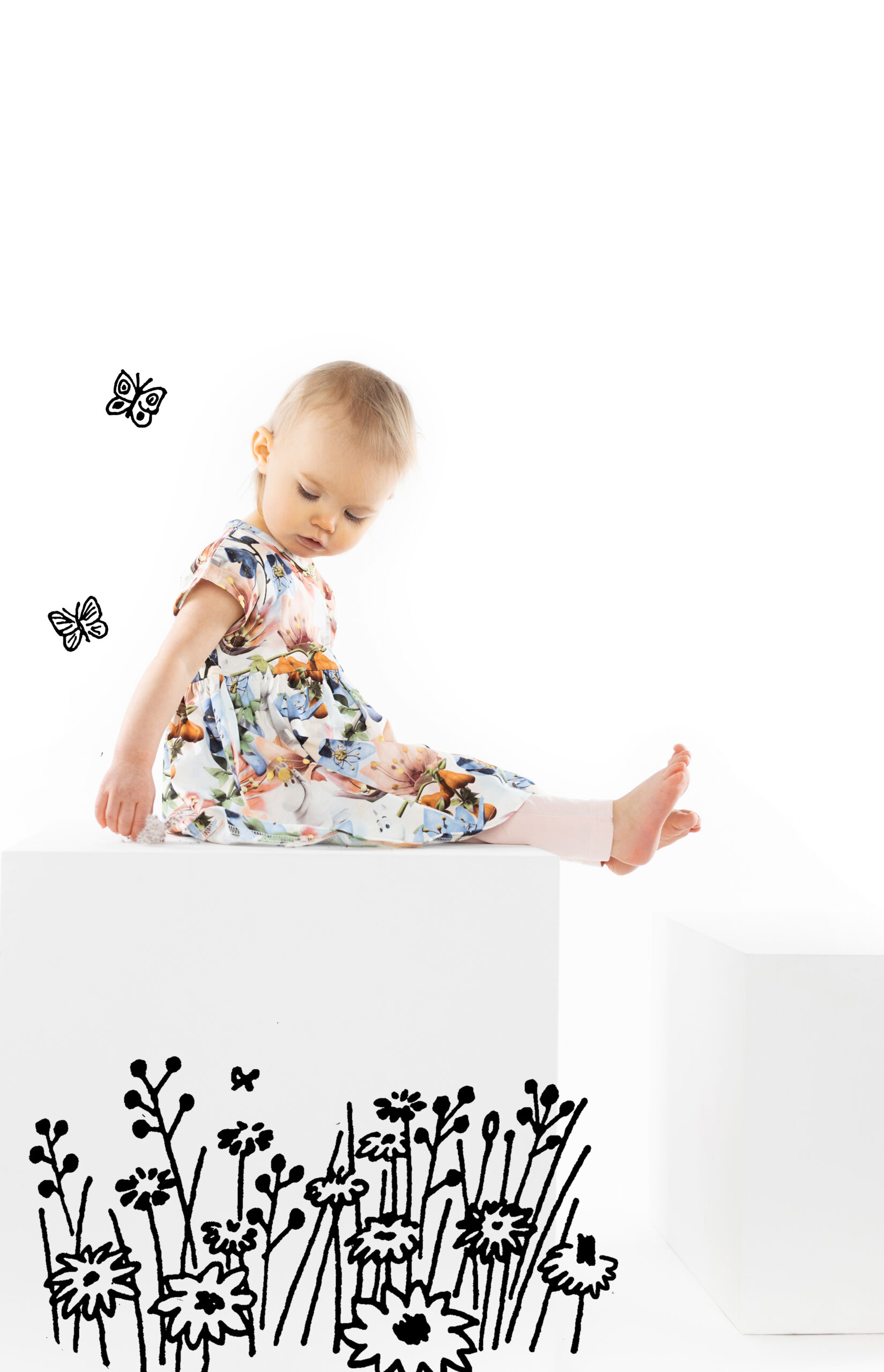Martinex Moomin Anemone Dress Baby Rose