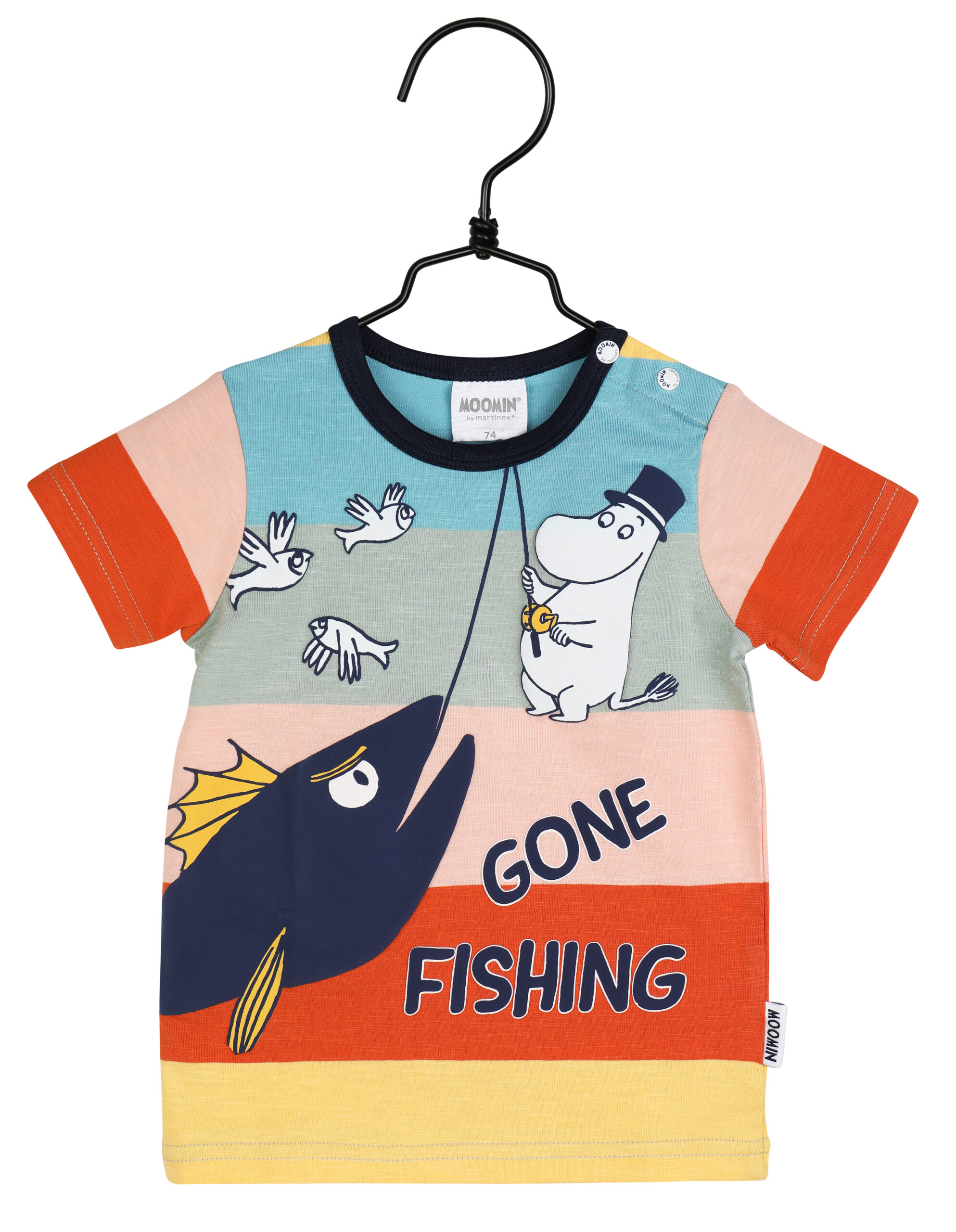 Martinex Moomin Gone Fishing T-Shirt Baby Multicolour