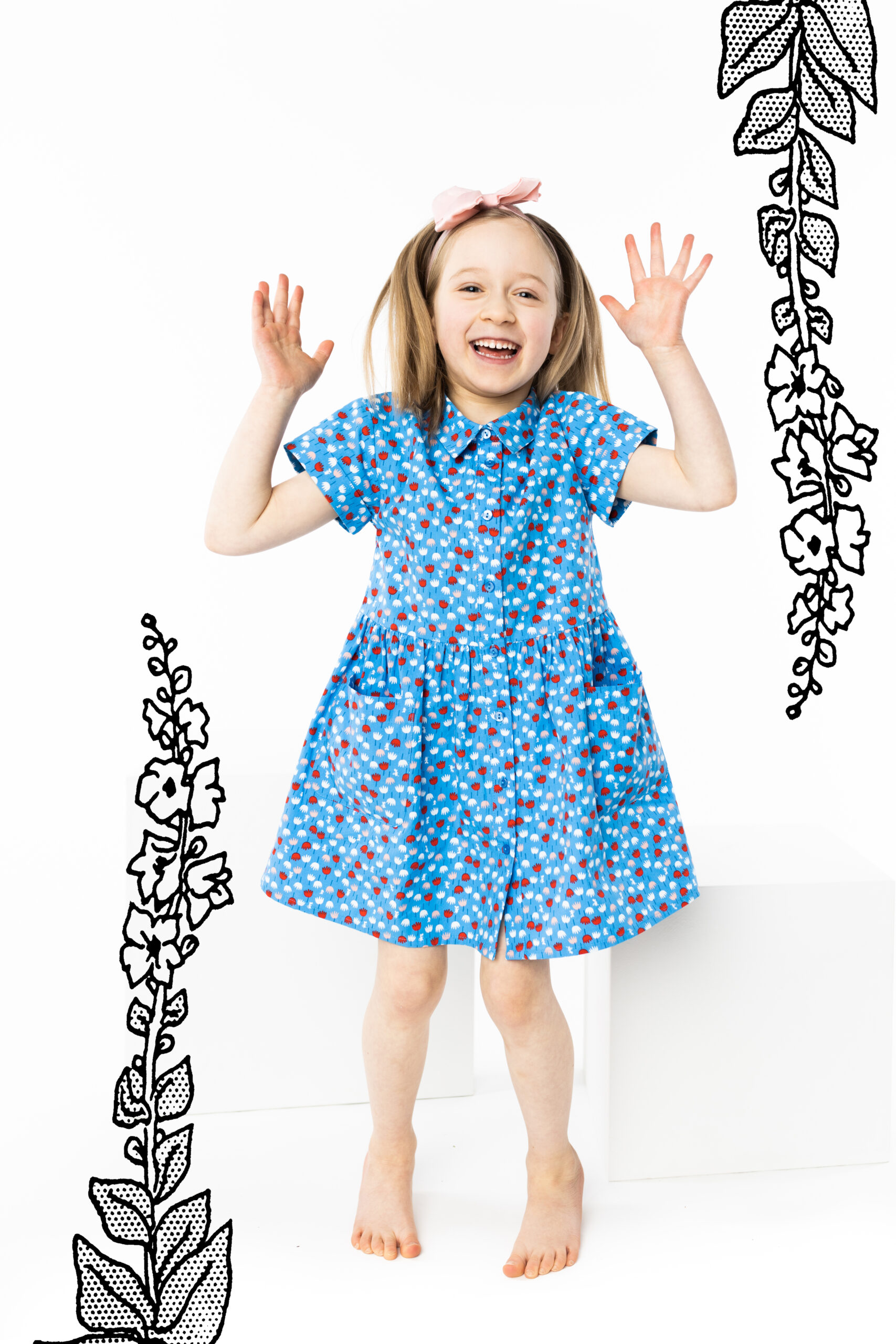 Martinex Moomin Miniflower Dress Blue