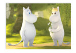 Putinki Greeting card Moomintroll and Snorkmaiden