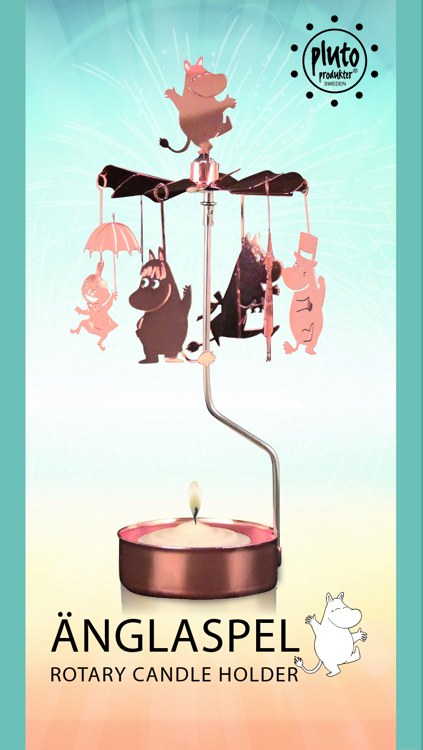 Pluto Rotary Candle Holder Moominfamily Copper