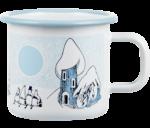 Moomin by Muurla Snowy Valley enamel mug 3,7 dl