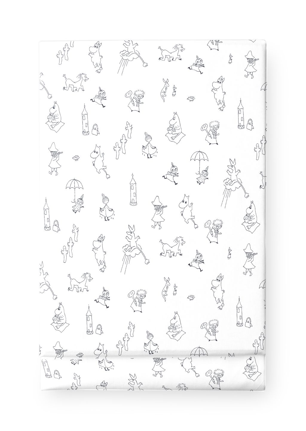 Finlayson FLATSHEET MOOMIN FRIENDS BLACK/WHITE 90X150