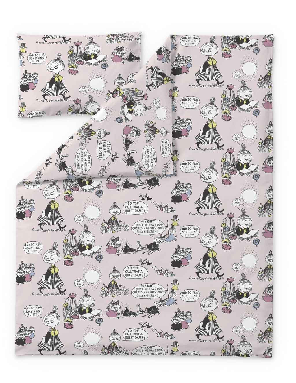 Finlayson DUVET COVER +  PILLOWCASE KID MOOMIN ROSE 120X160+40X60